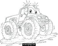 דפי צביעה בלייז ומכוניות הענק