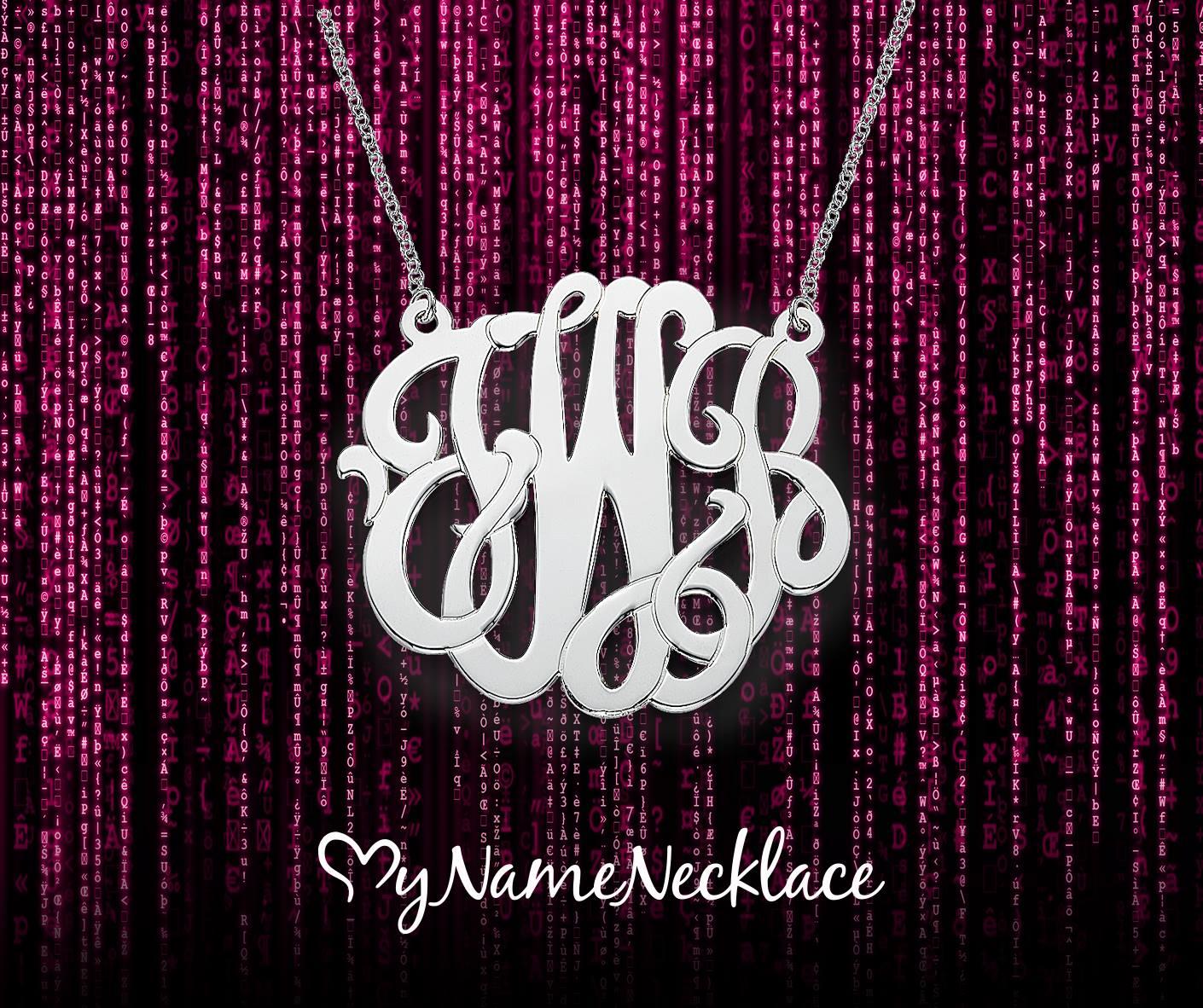 XXL Premium Monogram Necklace