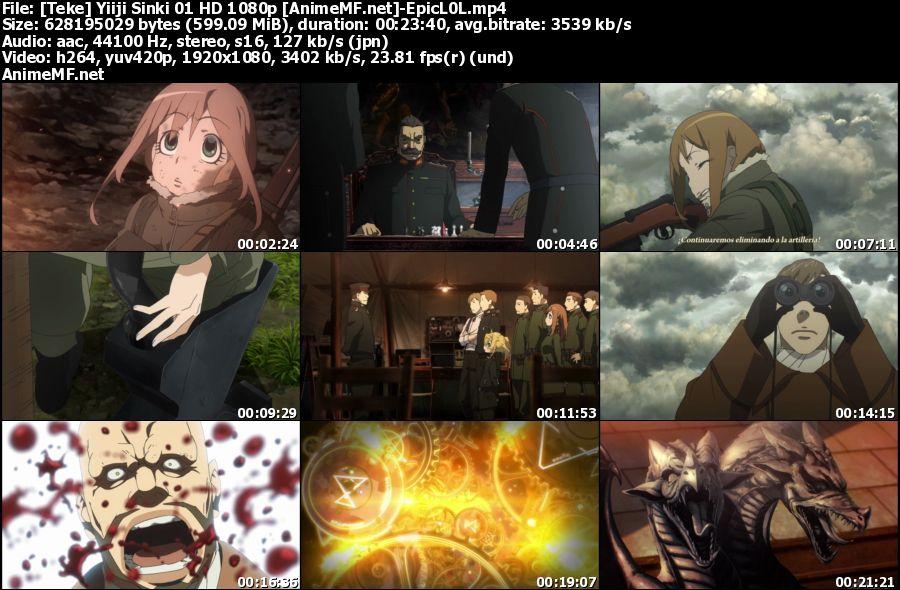 Vista previa de Youjo Senki HD 1080p Sub Español MEGA