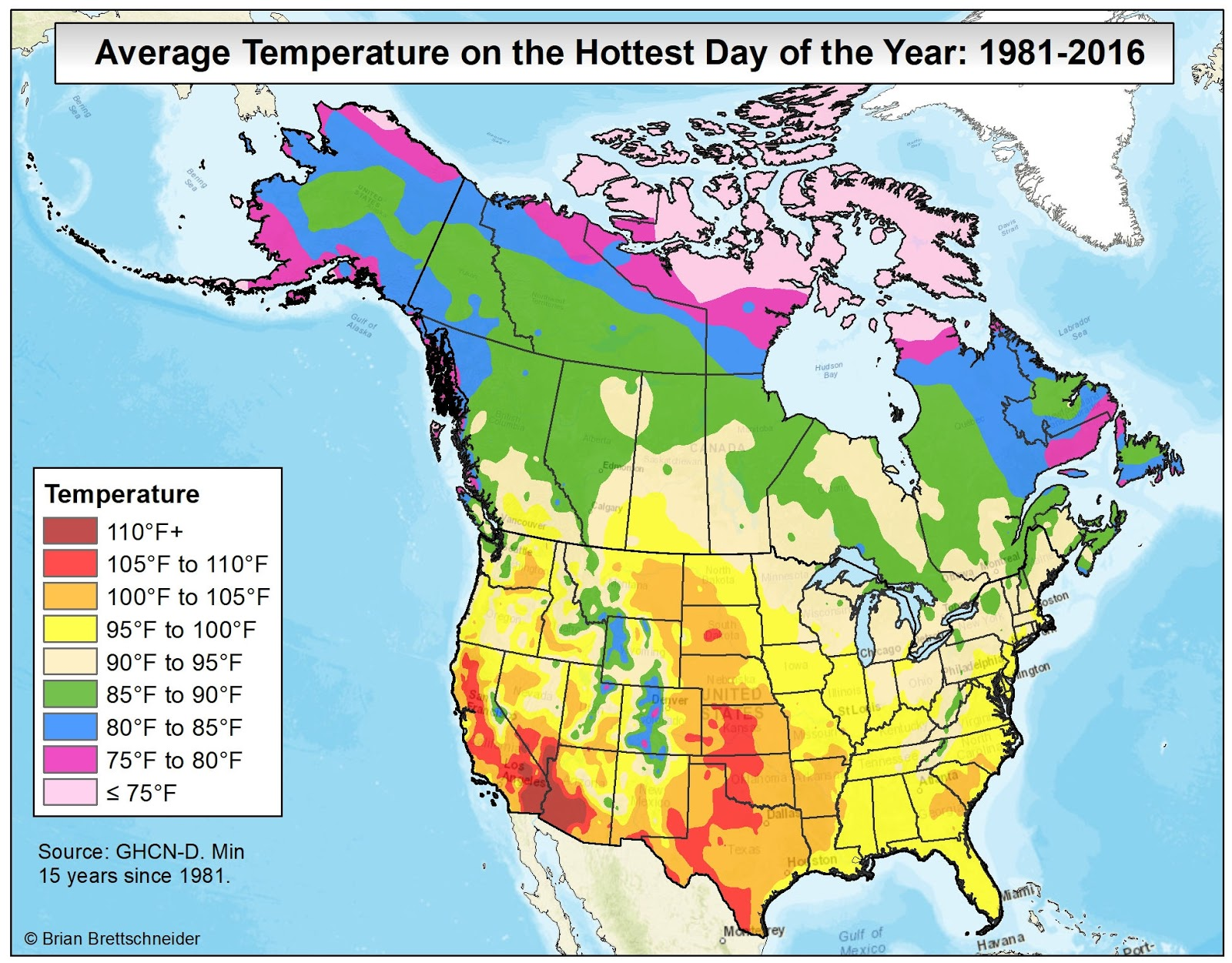 Brian B\'s Climate Blog: Average Annual High Temperature vs ...
