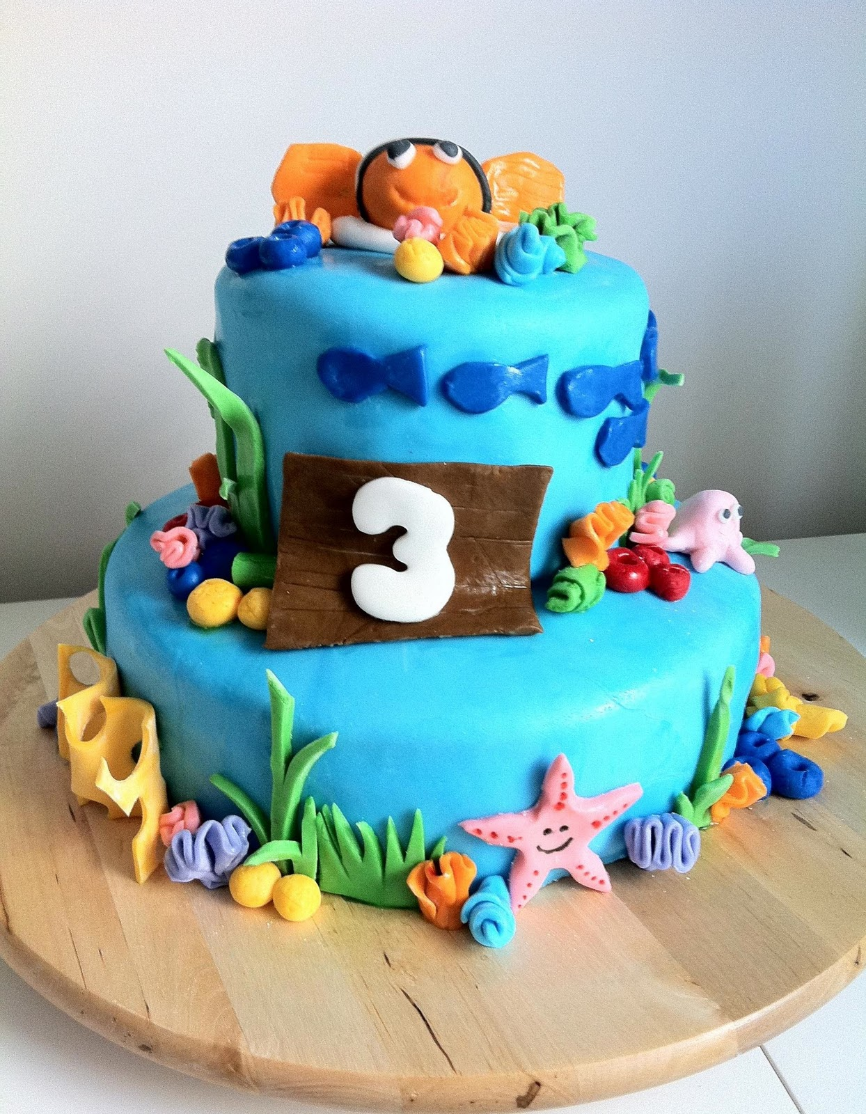 Sweetness By D Finding Nemo Logan S 3rd Birthday Cake Designs For 3 Years Old Boy