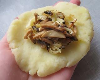 картофельные зразы с грибами, зразы