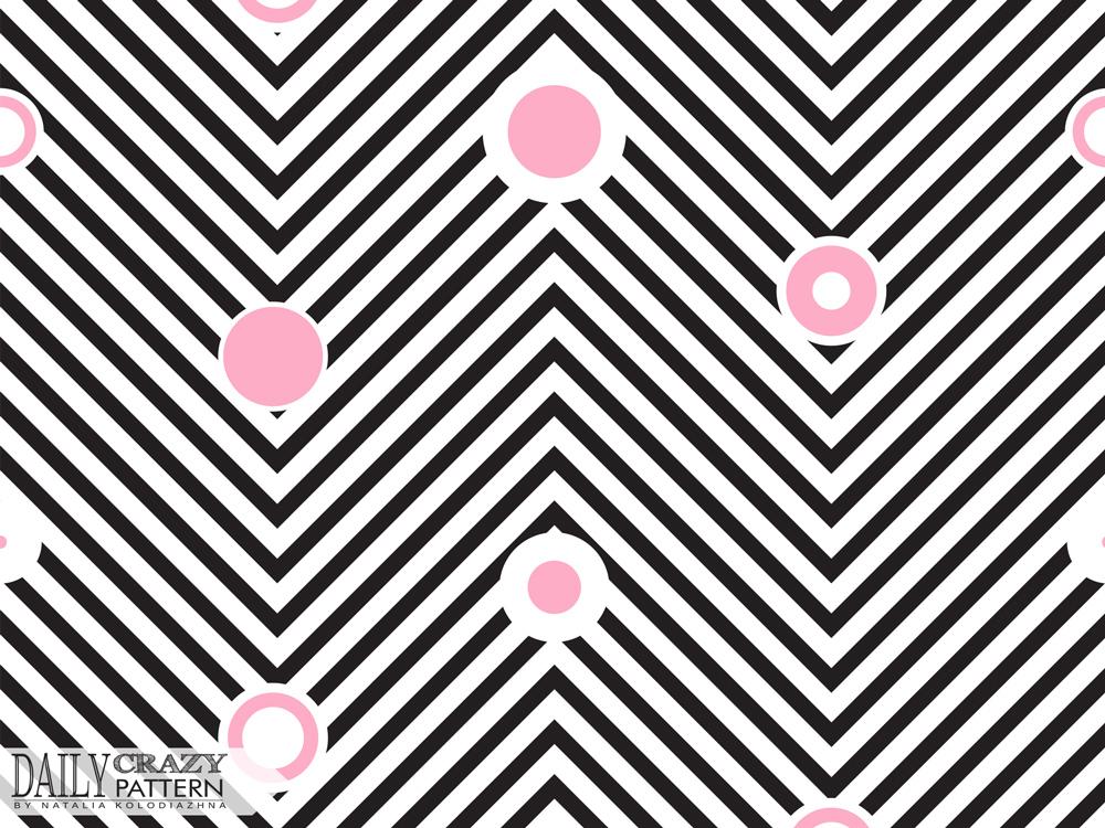Geometric zigzag pattern