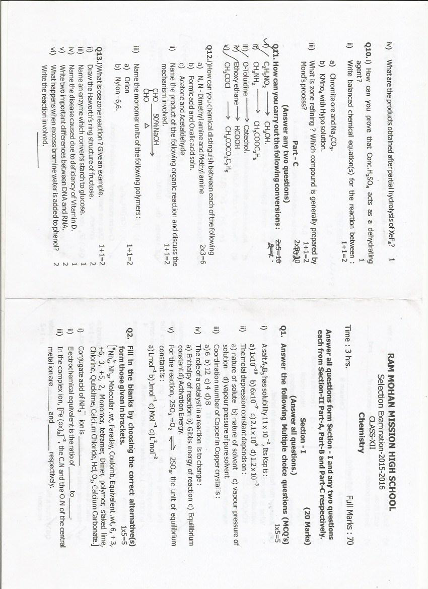 Class 12 SCIENCE Practical Readings and Projects: ISC Chemistry