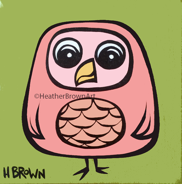 owl art heather brown