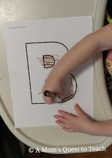 coloring the letter B