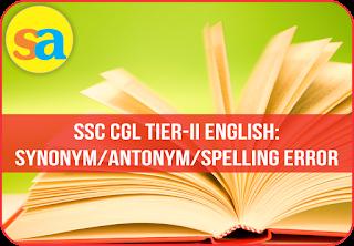 Synonym Quiz for SSC CGL Tier-II 2016_40.1