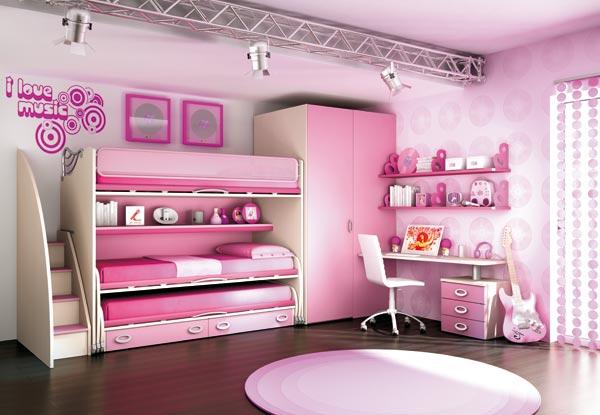 Dormitorios para hermanas en rosa dormitorios con estilo for Decoracion de la habitacion de nina rosa
