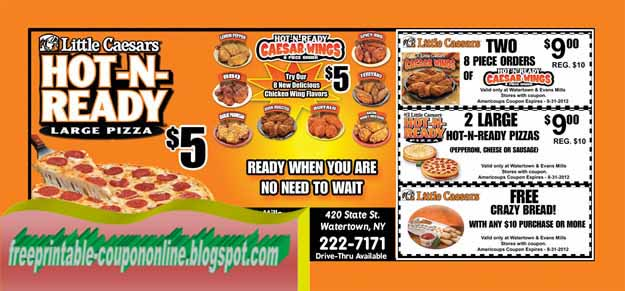 graphic about Little Caesars Printable Coupons titled Printable discount coupons very little caesars pizza : Pizza specials within