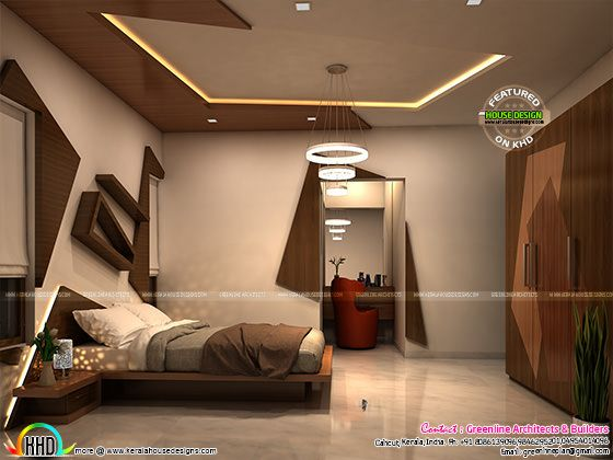 Awesome bedroom interior in Kerala