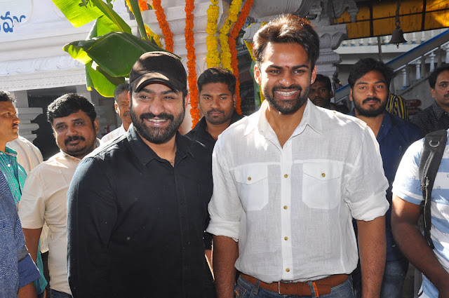NTR at Sai dharam Tej jawaan movie launch