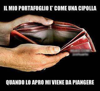 85115595cf LM: IL MIO PORTAFOGLIO E' COME UNA CIPOLLA, QUANDO LO APRO MI VIENE ...