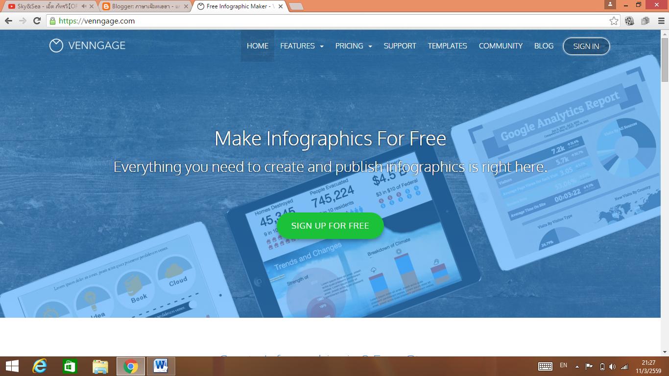 Hello Blog : ทดลองการทำ Infographic โดย www.venngage.com