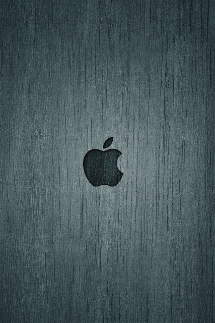 Apple Wood iPhone Wallpaper By TipTechNews.com