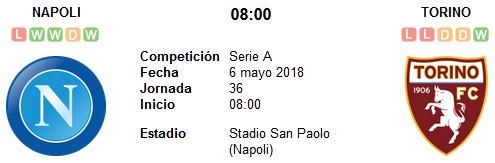 Napoli vs Torino en VIVO