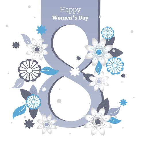 8 march Postcard To Women's Day Vector Illustration free vector