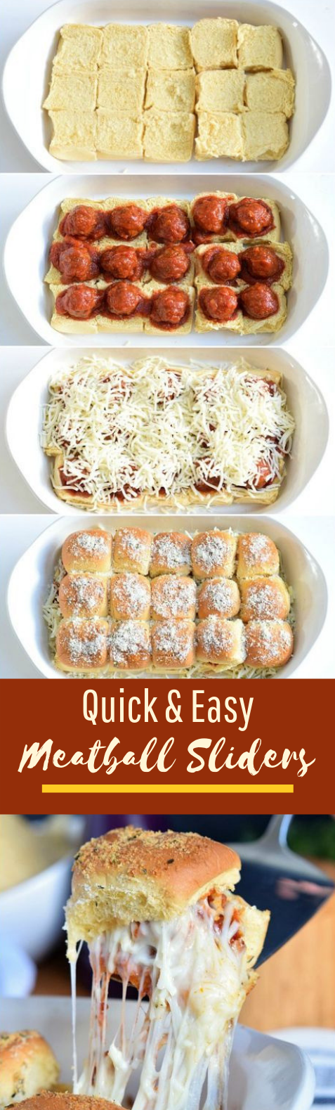 Easy Meatball Sliders #dinner #appetizer