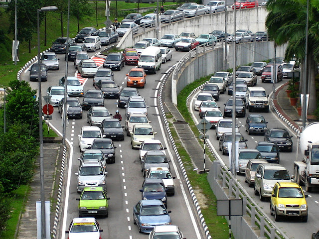 Malaysia Chinese New Year Traffic Jams