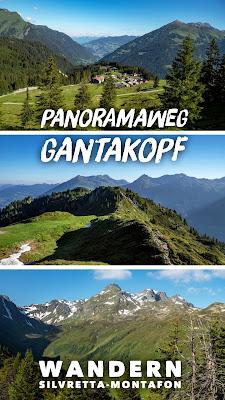 Panoramaweg Gantakopf | Wandern im Montafon | Silvretta-Montafon Wanderung von Nova Stoba nach Garfrescha | Versettlabahn - Garfreschabahn
