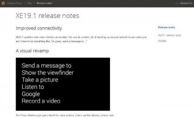 Update Google Glass XE 19.1, Ada Peningkatan Konektivitas dan Visual