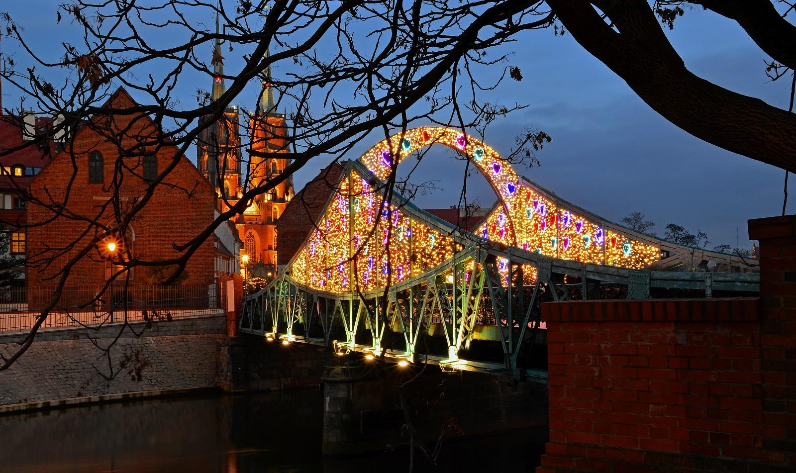 Most Tumski nocą - Wrocław