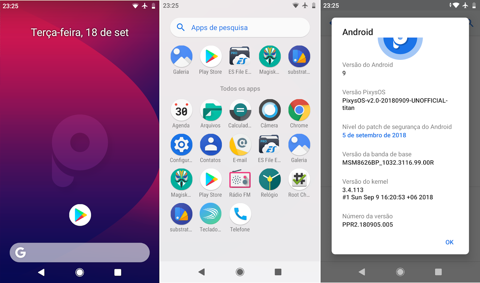 Projeto Moto G: ROM PixysOS [Android 9 0] [Unofficial] [Titan]