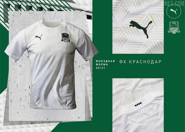 Champions League Group Stage Fc Krasnodar 20 21 Home Third Away Kits Released Gladbach Valencia Design Footy Headlines