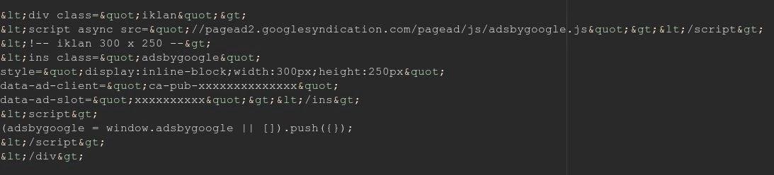 Encode dengan HTMLEntities