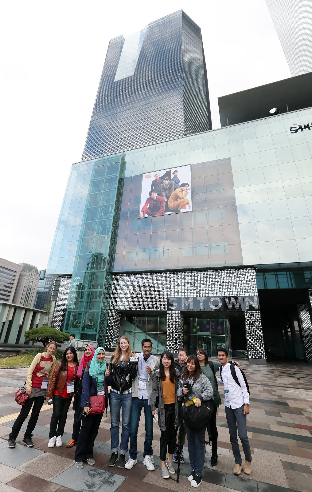 Unleashing our inner KPOP star in SM TOWN situated in Seoul's famous Gangnam district.