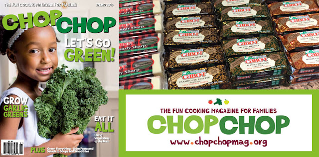 ChopChop Magazine has teamed up with Cabot Cheese to celebrate National Dairy Month and they want you to enter once to win a year long subscription with a years supply of Cheese!