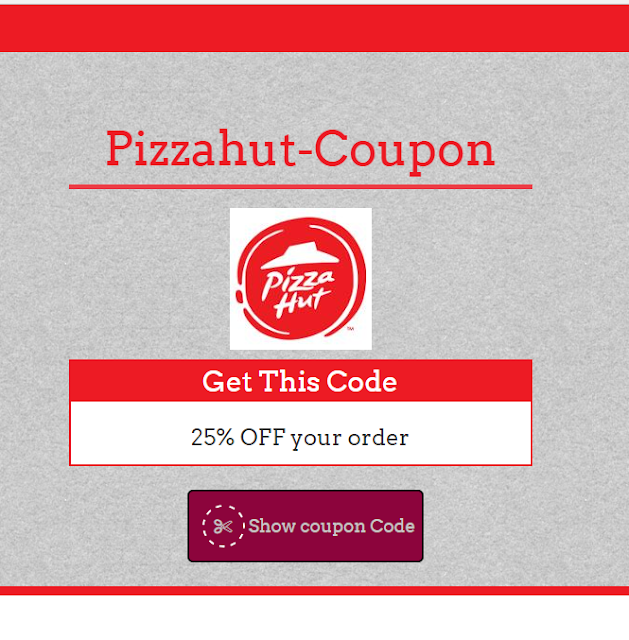 Pizzahut  35% Coupon Code May 2017
