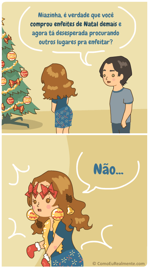 Todo ano eu compro enfeites de Natal demais e depois fico desesperada procurando lugares para decorar além da árvore