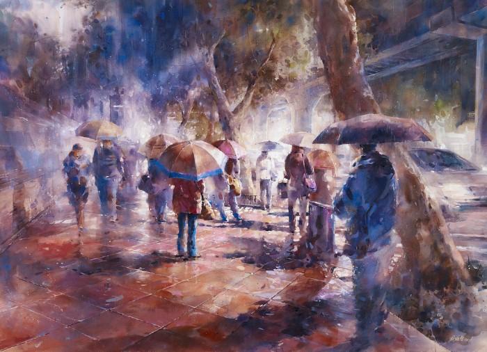 Акварельная живопись. Lin Ching Che 7