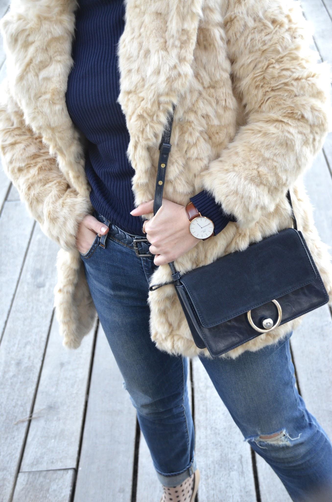 boyfriend jeans mujer levis abrigo de pelo beige