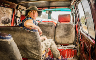 In the van, taken in Addis Ababa, Ethiopia. Tracey Carisch's Operation Awesome Debut Author Spotlight and Emerging First Book