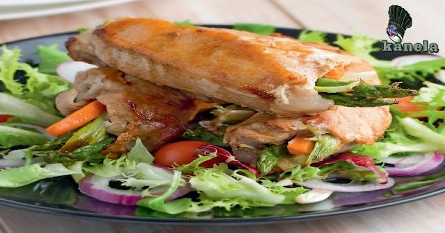 Rollitos de cerdo con verduras