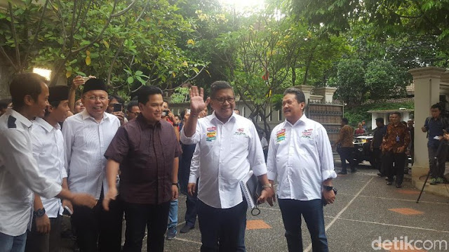 Ketua Timses Jokowi Diumumkan, Erick Thohir ke Posko Cemara
