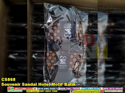 jual Souvenir Sandal Hotel Motif Batik