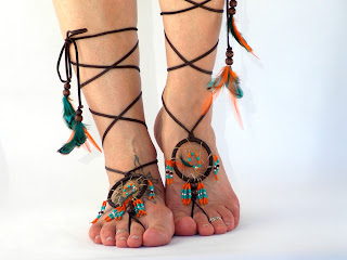 Dream Catcher Barefoot Sandals