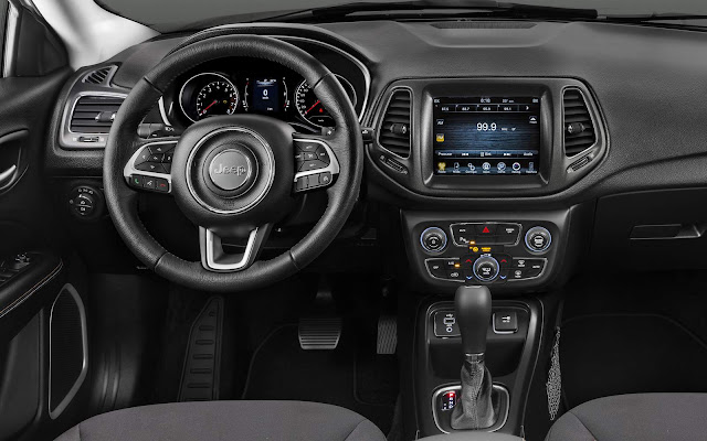 Novo Jeep Compass Flex 2017 - interior - painel