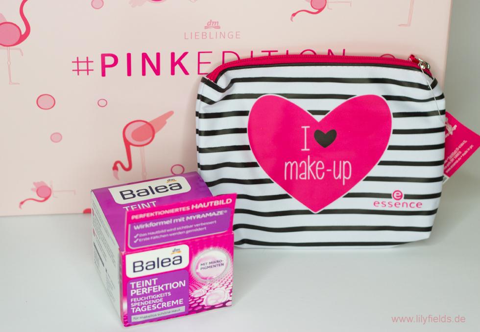 Foto zeigt Inhalt der  DM Lieblinge Box - Pink Edition