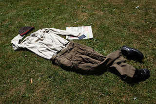 a rapture man with left behind cloth