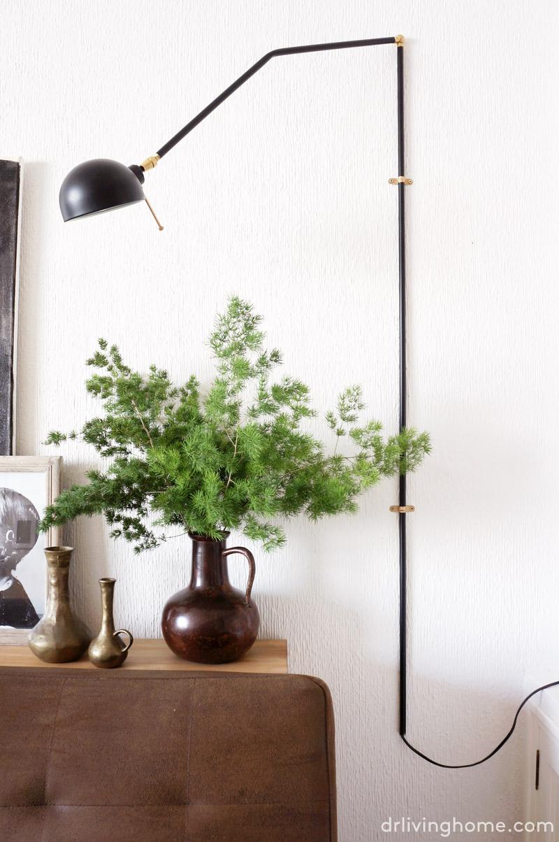 Diy swing arm wall lamp