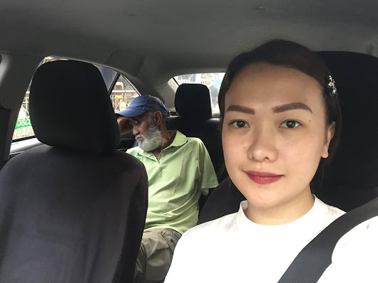 This Lady Drives The Taxi On Behalf A Tired And Sleepy 70-Year-Old Driver