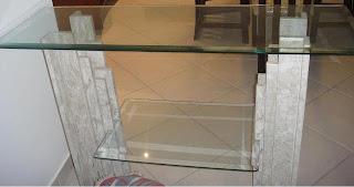 foto mesa de vidro com bisote