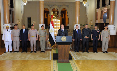 Sisi and members of National Defense council