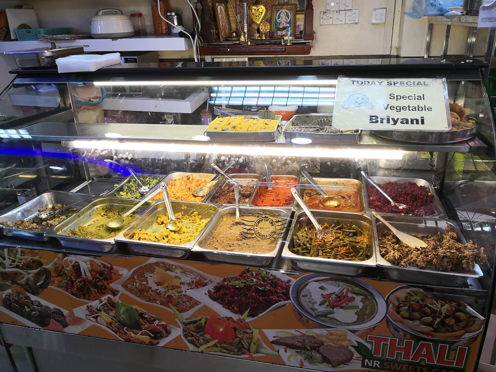 Thali-NR Sweet Cafe at Little India, Lebuh Penang, Georgetown Penang