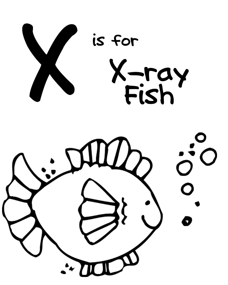 we love being moms! letter x (xray fish)