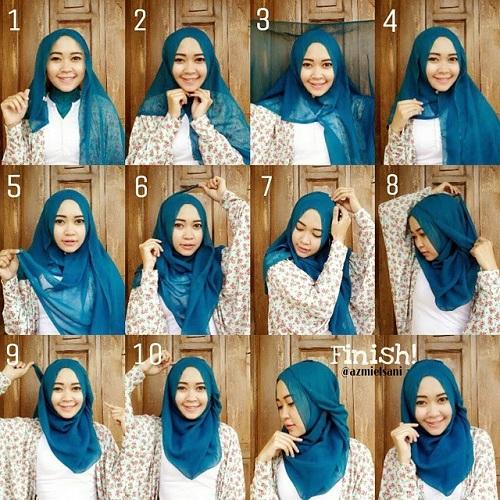 Tutorial Hijab Langkah Mudah Cara Memakai Jilbab Segi ...