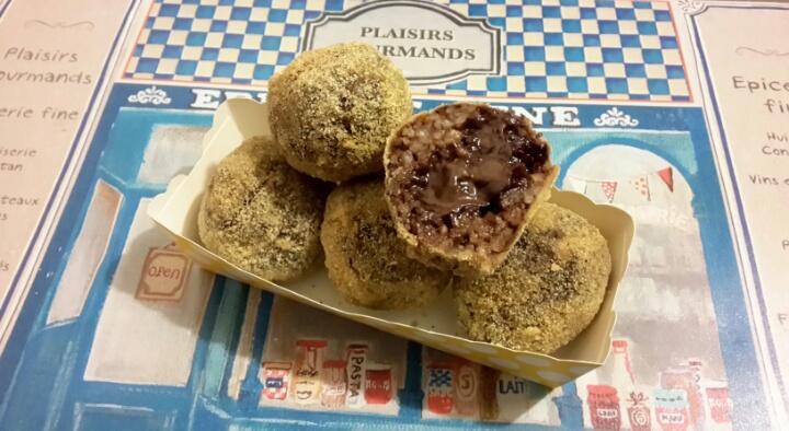 Arancini dolci con crema di nocciole e cioccolato 23a0e2b83159
